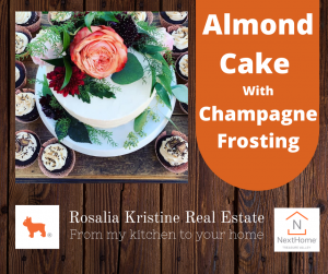 Almond Cake With Champagne Frosting