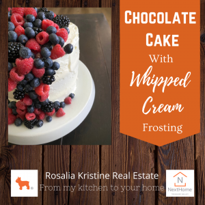 Chocolate Cake With Whipped Cream Frosting (1)
